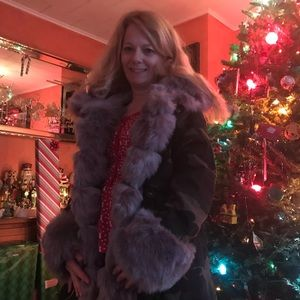 Camo coat with faux fur NWT